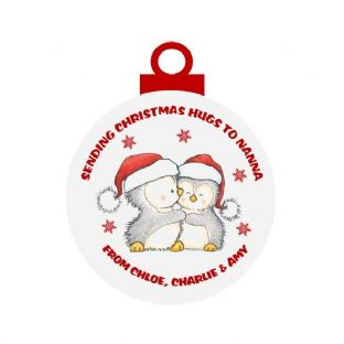 Christmas Hug Acrylic Christmas Ornament Decoration Penguins